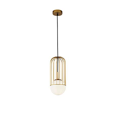 Подвесной светильник в современном стиле Д=15 см. (золото)