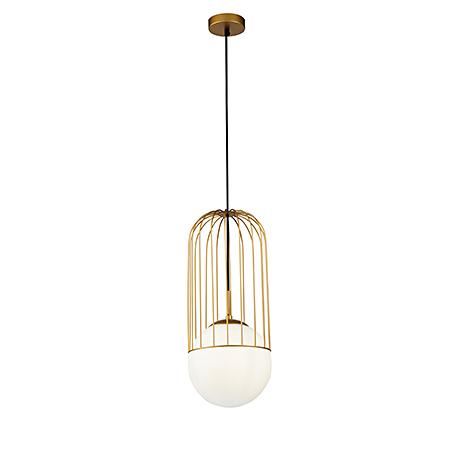 Подвесной светильник в современном стиле Д=20 см. (золото)
