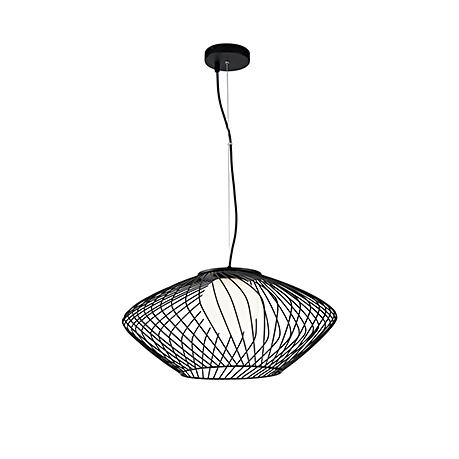 Современный подвесной светильник диаметр 52 см. (цвет черный)