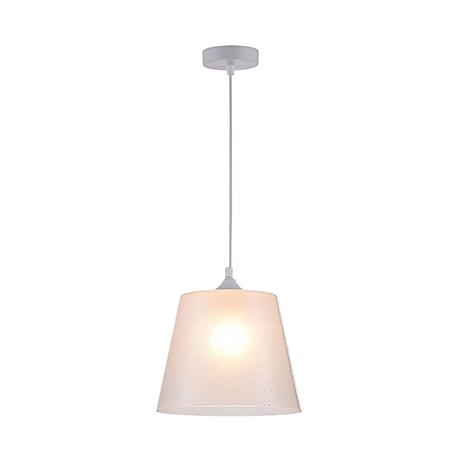 Подвесной светильник стеклянный плафон с эффектом влаги (цвет белый)