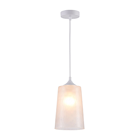 Подвесной светильник из стекла с эффектом капель (цвет белый)