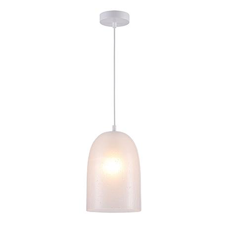 Подвесной светильник из стекла с эффектом мокрых капель (цвет белый)