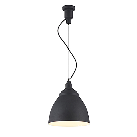 Подвесной светильник конус диаметром 25 см. (цвет черный)