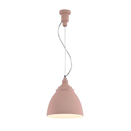 Подвесной светильник конус диаметром 25 см. (цвет розовый)