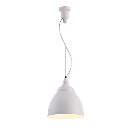 Подвесной светильник конус диаметром 25 см. (цвет белый)