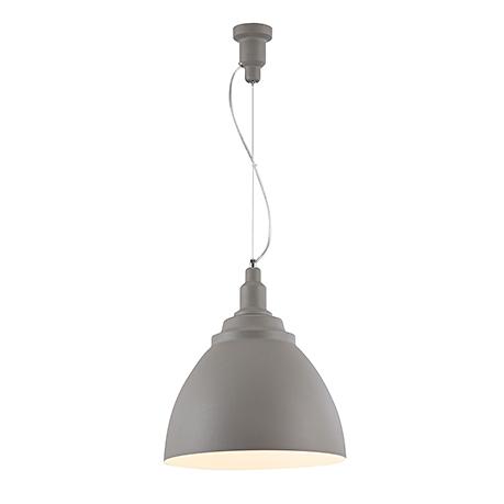 Подвесной светильник конус диаметром 35 см. (цвет серый)