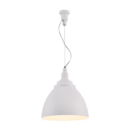 Подвесной светильник конус диаметром 35 см. (цвет белый)