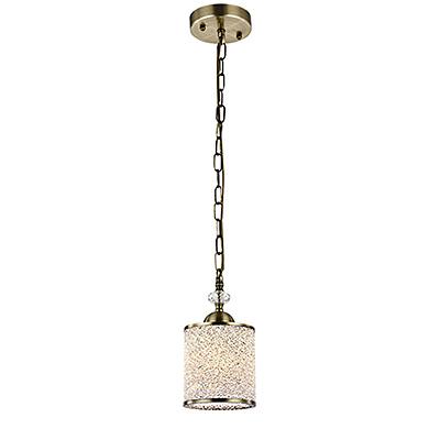 Одинарный подвесной светильник (бронза)