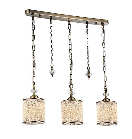 Подвесной светильник на три плафона (бронза)