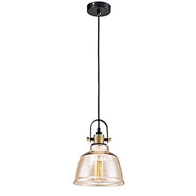 Подвесной светильник из стекла в стиле ретро-лофт (янтарный)