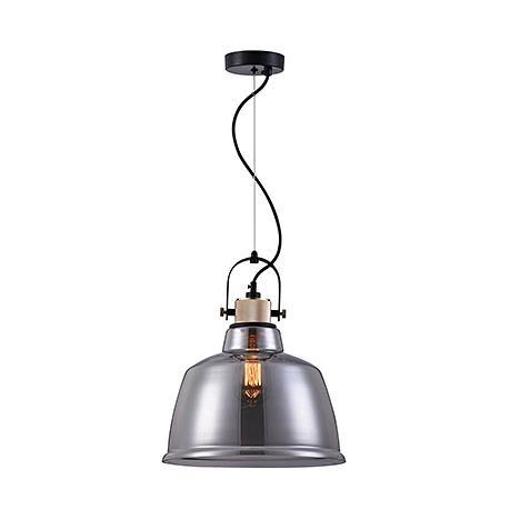 Подвесной светильник из стекла в стиле ретро-лофт (дымчатый)
