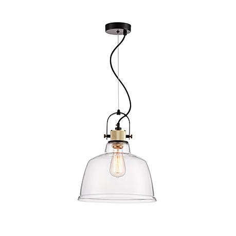 Подвесной светильник из прозрачного стекла