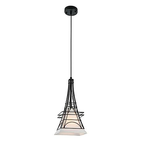 Подвесной светильник из ткани и металлической обрешеткой