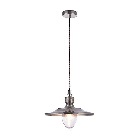 Подвесной светильник из металла в ретро стиле (никель)