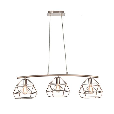 Тройной подвесной светильник в стиле лофт