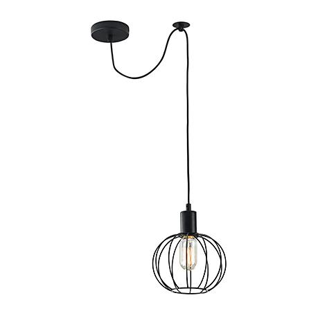 Светильник-лампа с решеткой шаром (цвет черный)