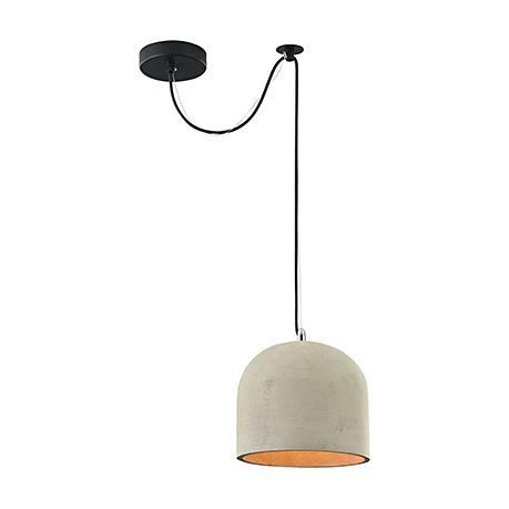 Подвесной светильник-купол из бетона