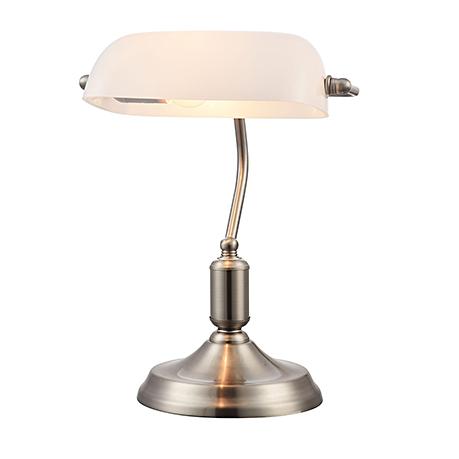 Banker Nickel: Настольная лампа Banker серебро