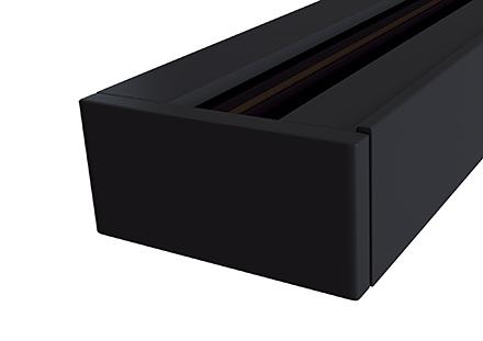 Накладная шина трековой системы 2 м. (черный)