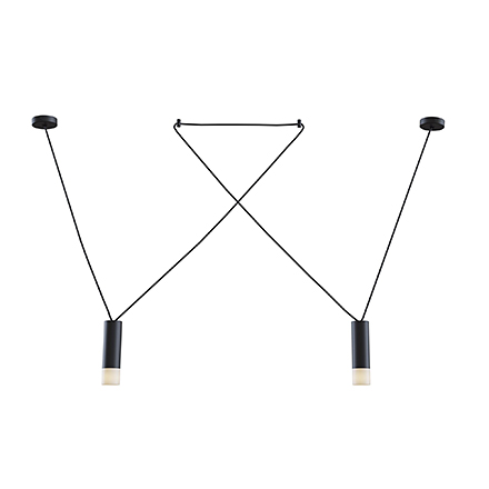 Подвесной светильник (черный)
