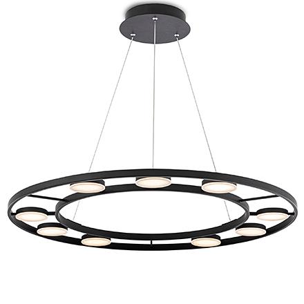Fad LED: Подвесная светодиодная люстра (черный)