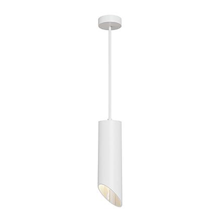 Подвесной светильник косой срез (белый)