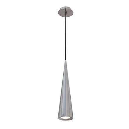 Подвесной светильник конус (никель)