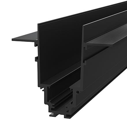Магнитная встраиваемая шина трековой системы 2 м. (черный)