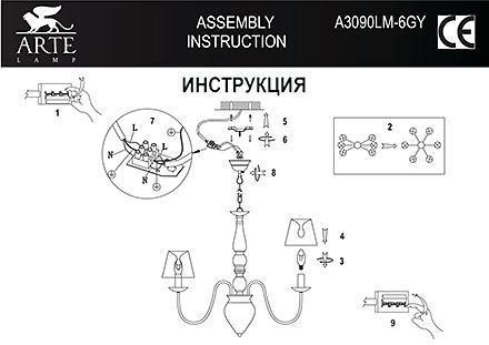 Инструкция / Схема для A3090LM-6GY