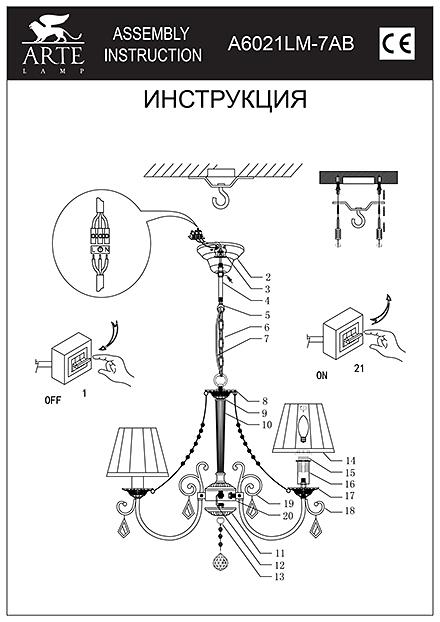 Инструкция / Схема для A6021LM-7AB