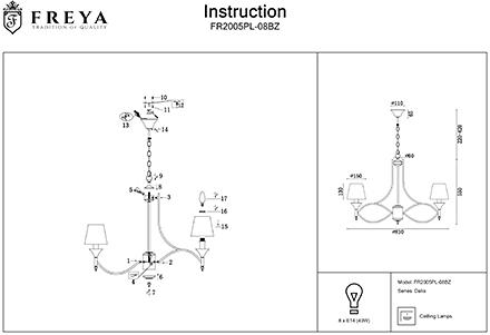 Инструкция / Схема для FR2005PL-08BZ
