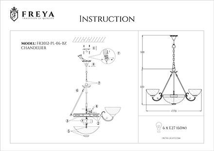 Инструкция / Схема для FR2012-PL-06-BZ