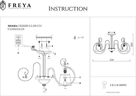 Инструкция / Схема для FR2020-CL-05-CH