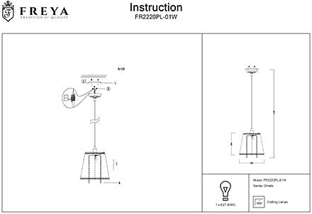 Инструкция / Схема для FR2220PL-01W