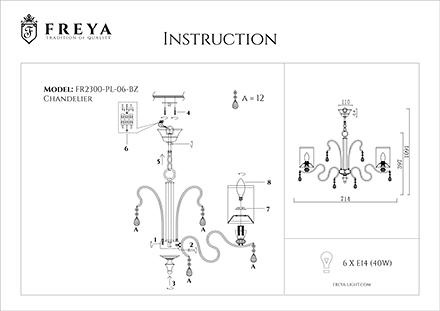 Инструкция / Схема для FR2300-PL-06-BZ