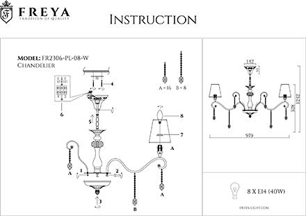 Инструкция / Схема для FR2306-PL-08-W