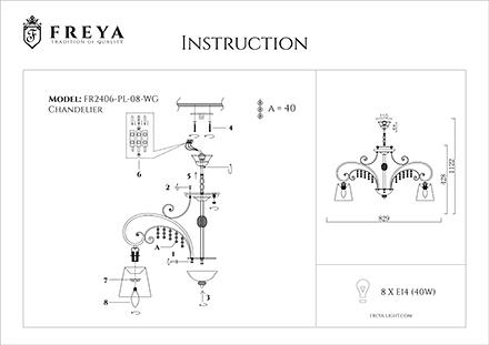 Инструкция / Схема для FR2406-PL-08-WG