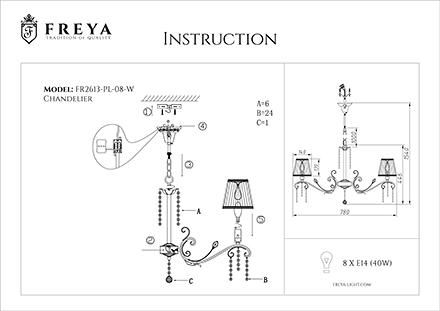 Инструкция / Схема для FR2613-PL-08-W