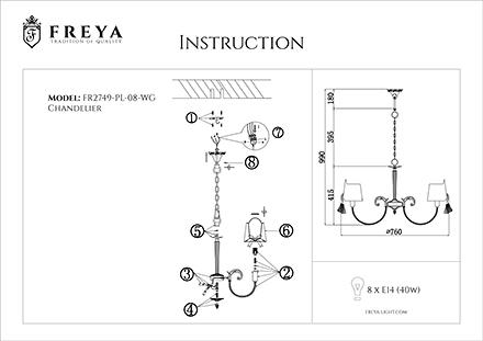 Инструкция / Схема для FR2749-PL-08-WG