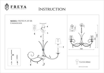 Инструкция / Схема для FR2755-PL-07-BR