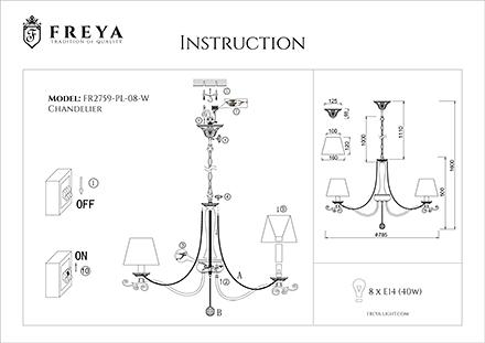 Инструкция / Схема для FR2759-PL-08-W