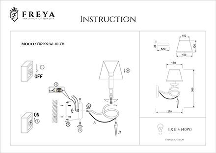 Инструкция / Схема для FR2909-WL-01-CH
