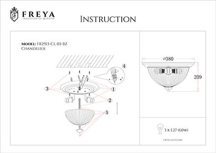 Инструкция / Схема для FR2913-CL-03-BZ