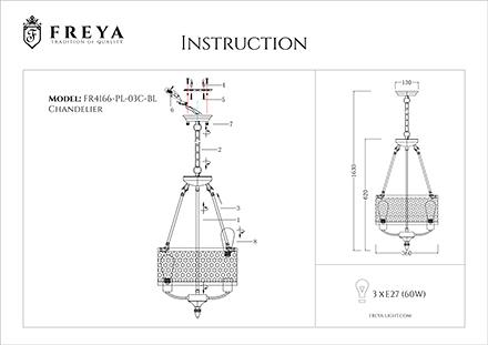 Инструкция / Схема для FR4166-PL-03C-BL