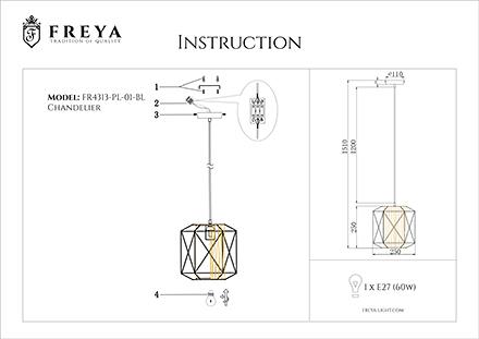 Инструкция / Схема для FR4313-PL-01-BL