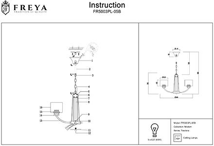 Инструкция / Схема для FR5003PL-05B