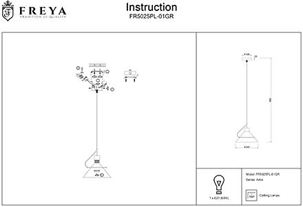 Инструкция / Схема для FR5025PL-01GR