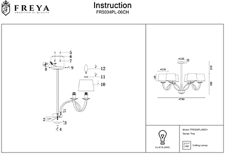 Инструкция / Схема для FR5034PL-06CH