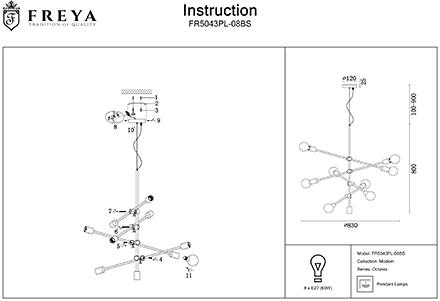 Инструкция / Схема для FR5043PL-08BS