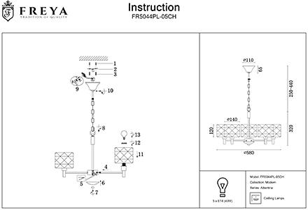 Инструкция / Схема для FR5044PL-05CH
